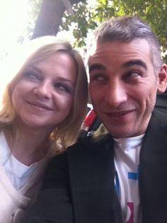 Selfie-Time: Redakteur Björn von BUNTE.de mit der lustigen Annett Lousian