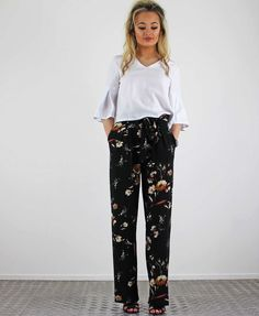 Harem Pants, Trousers, Belt Tying, Daily Fashion, Floral Tie, Outfit Of The Day, Ootd, Style Inspiration, Pretty