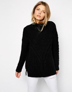 Image 1 of ASOS Cable Jumper With Turtle Neck