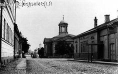 Lönnrotinkatu (Antinkatu). 1860-70 -luku. Lähde http://albumit.lasipalatsi.fi/