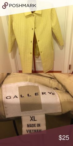Long Gallery Coat Long green Gallery coat is in great condition and has cool hook buttons! Gallery Jackets & Coats