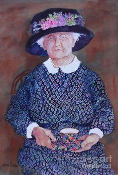 Taking Tea Painting  - Taking Tea Fine Art Print