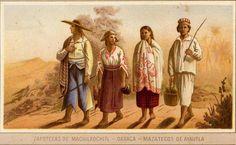 "Ethnic groups in Mexico in the nineteenth century.  ""FELIX PARRA, Ethnographic LETTER TO THE PICTURESQUE ATLAS CUBAS ANTONIO GARCÍA, 1885"