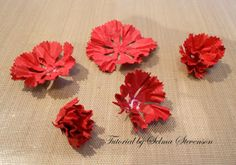 Selma's Stamping Corner and Floral Designs: Build A Flower Carnation Tutorial