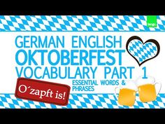 Oktoberfest essential words and phrases German English Vocabulary part 1 - YouTube