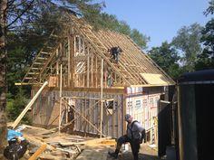 Construction d'une charpente de maison