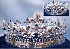 Magestic Queen King Silver Full Crown – RoyaltyCrowns