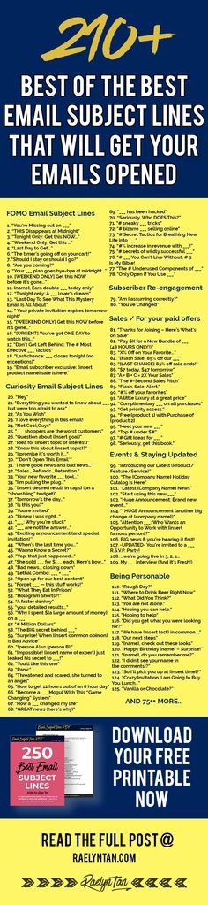 Best Email Subject Lines To Drastically Improve Your Open Rates – Best Education Email Marketing Strategy, Marketing Tools, Business Marketing, Content Marketing, Internet Marketing, Business Tips, Online Marketing, Online Business, Marketing Process