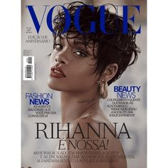 Rihanna on Vogue Brazil May 2014 Cover ❤ liked on Polyvore featuring backgrounds, photo and rihanna
