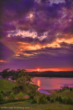 Sunset on Norris Lake, TN, USA