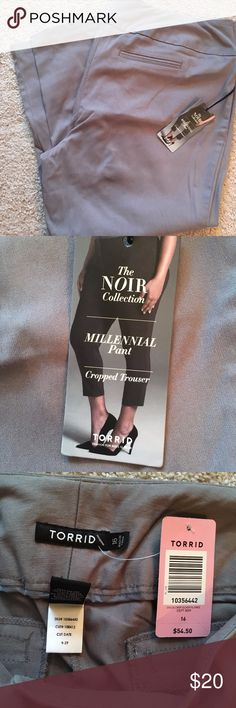Selling this Torrid Gray Cropped Dress Trouser on Poshmark! My username is: marissa425. #shopmycloset #poshmark #fashion #shopping #style #forsale #torrid #Pants