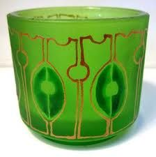 Art Deco Glass Bowl - with gold inlay. @Deidré Wallace