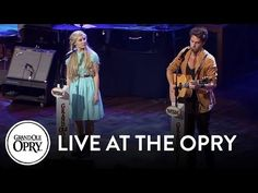 """""""Fade Into You"""" ~ NASHVILLE cast Sam Palladio (Gunnar) and Clare Bowen (Scarlett), song from Season 1, Episode 3. Live at the Grand Ole Opry."""