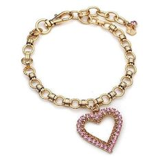 Gold Two Row Pink Crystal Heart Dog Necklace – Bark Label