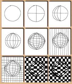 Fru+Billedkunst+-++++NY+ADRESSE+-+www.FruBilledkunst.dk:+Op+art++-+2.del:+kugler