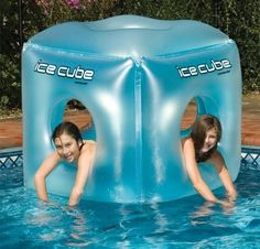 for pool owners -- Floating Pool Toys -- love this giant ice cube!