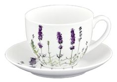 Ashdene I Love Lavender Bone China Teacup And Saucer Set In Gift Box, 2015 Amazon Top Rated Saucers #Kitchen