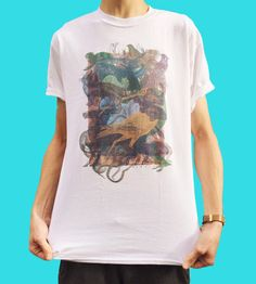 Glitch T-Shirt Indie T-Shirt Grunge T-Shirt Animals by SloClo