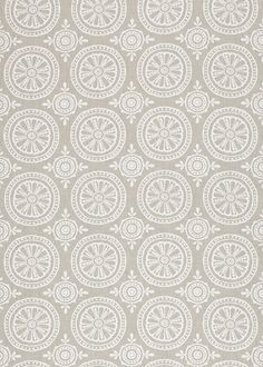 Cheree Heather/ Chalk (131069) - Harlequin Fabrics - A detailed and elegant large scale boho motif pattern, fabric design inspired by original block prints. Shown here in heather and chalk. Other colourways are available. Please request a sample for a true colour and texture match.