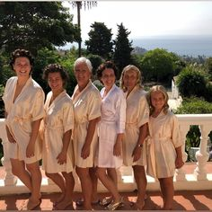 "The Little Lovebird on Instagram: ""Our beautiful bride with her team by her side wearing the champagne short sleeved robes at her destination wedding 💗 The Little Lovebird"""