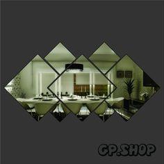 Espelho Decorativo Em Acrílico Quadrados