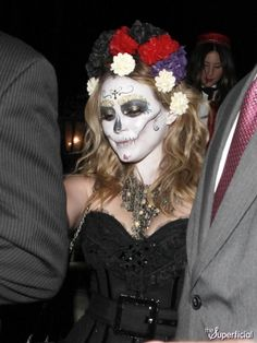 Hilary Duff Cleavage Zombie Bride Halloween Costume