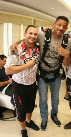 Skydiving celebrities.  Will Smith kicking off 2014 with a tandem at Skydive Dubai.
