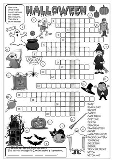 Halloween - crossword worksheet - Free ESL printable worksheets made by teachers Halloween Crossword Puzzles, Halloween Worksheets, Halloween Activities, Worksheets For Kids, Printable Worksheets, Rhyming Worksheet, English Activities, Primary Activities, Kindergarten Activities