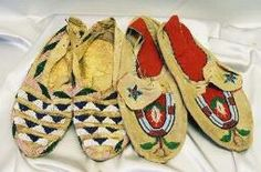 Cherokee beaded moccasins