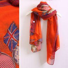 Hot fashion the Union Jack pirate scarf silk scarf cape 180*55 thin cotton women scarf wraps free shipping. $12.43