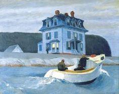 """The Bootleggers"" by Edward Hopper; 1925, Currier Museum of Art"