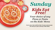 Bring the kids along on Sunday and don't pay extra. Only at #Panarottis