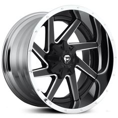 Fuel Renegade D264 2 Piece Wheel Black Milled With Chrome Lip Rim Custom