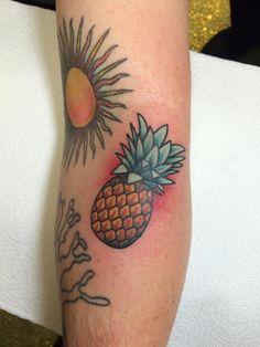 Pineapple by Danny Kalan, Emerald City Tattoo and Supply, Seattle, WA.