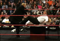 Vince McMahon gets more than he bargained for when Donald Trump got physical after signing the contract for Wrestlemania XXIII's 'Hair vs Hair' match...
