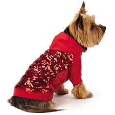 East Side Collection Love Me Sequin Pullover, Large, Red *** Awesome dog product. Click the image : dog clothes