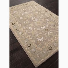 Hand-Made Gray/ Blue Wool Easy Care Rug (8x10)   Overstock.com Shopping - Great Deals on JRCPL 7x9 - 10x14 Rugs