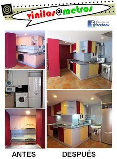 Cocinas low cost cambio de color con vinilos on - Vinilos low cost ...