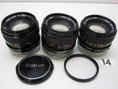 5L185FB CANON FD 50mm F1.4 S.S.C. レンズまとめて3本ジャンク_画像1