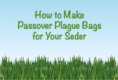 How to Make Passover Plague Bags with your kids or your class.