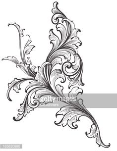 Vector Art : Ornamental Scroll Growth