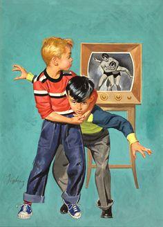 Life Imitates Art, or Professional Wrestling For That Matter...art by Howard Forsberg.