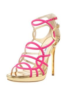 ca1edf6ea740f Jimmy Choo Strappy Jersey   Metallic Sandal  thebest83501  -  221.00    Discounted Christian Louboutin