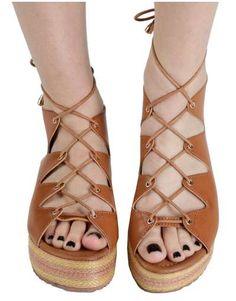ΝΕΕΣ ΑΦΙΞΕΙΣ :: Σανδάλια Flatforms Greek Unique Style Camel - OEM Style, Shoes Sandals, Swag, Outfits