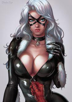 Black Cat Portrait by dandonfuga