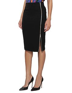 Women's Apparel | Pencil | Jovanna Skirt with Exposed Side Zip | Lord and Taylor