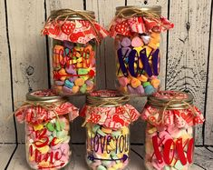Check this link and get up to OFF personalized gifts on sale at Personalization Mall! Mason Jar Candy, Mason Jar Gifts, Valentine Day Crafts, Valentine Decorations, Teacher Valentine, Candy Hearts, Conversation Hearts Candy, Mason Jar Centerpieces, Candy Bouquet