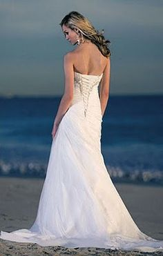 Elegant corset wedding gown.
