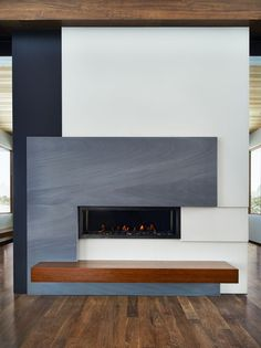 This gorgeous fireplace was completed by The Stone Collection. #luxeCO