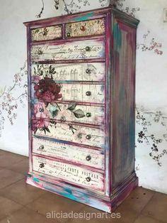 Furniture For Sale Black Friday Funky Painted Furniture, Decoupage Furniture, Distressed Furniture, Refurbished Furniture, Paint Furniture, Shabby Chic Furniture, Furniture Projects, Furniture Makeover, Furniture Decor